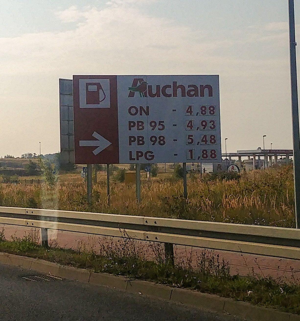 Paliwo tania ropa ON - 4,88 @Auchan Szczecin Ustowo