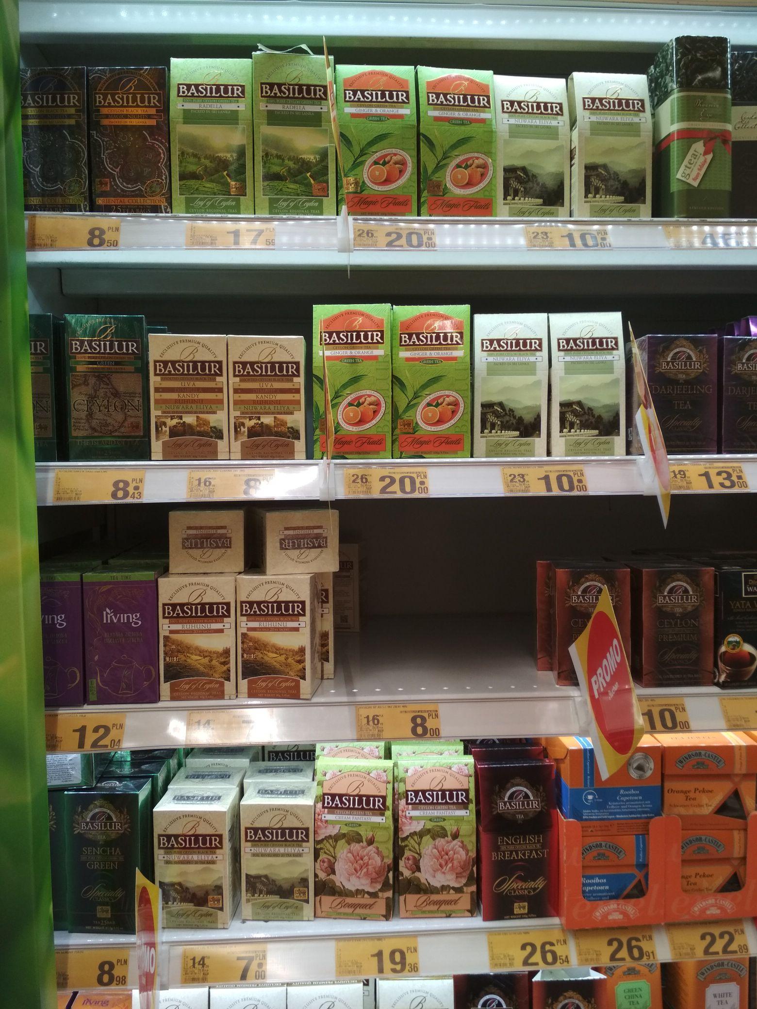 Basilur herbata liściasta Leaf of Ceylon - Auchan Katowice