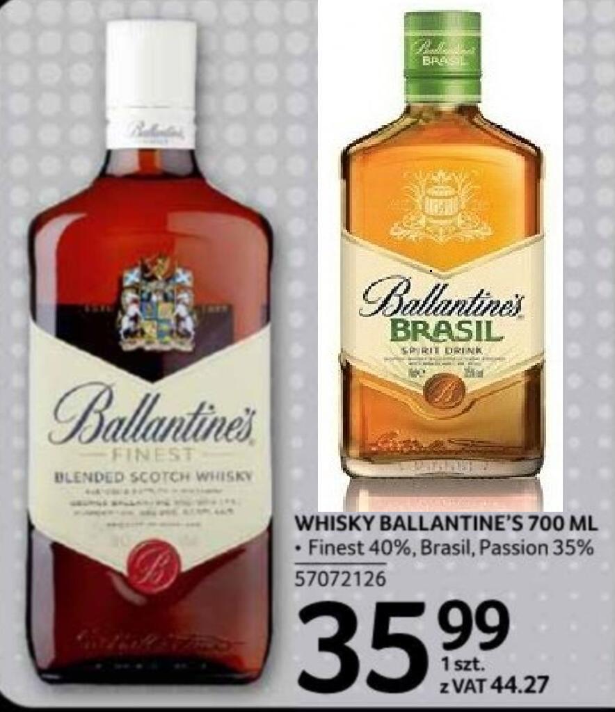Whisky Ballantines 0,7, Finest 40%, Brasil, Passion 35% @Selgros