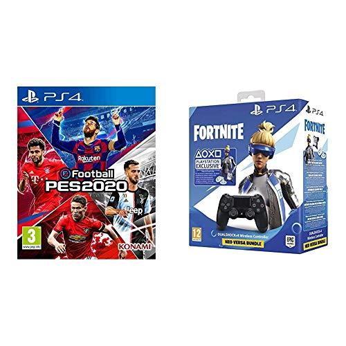 PES 2020 + Playstation DualShock 4 v2 + Fortnite DLC @ Amazon
