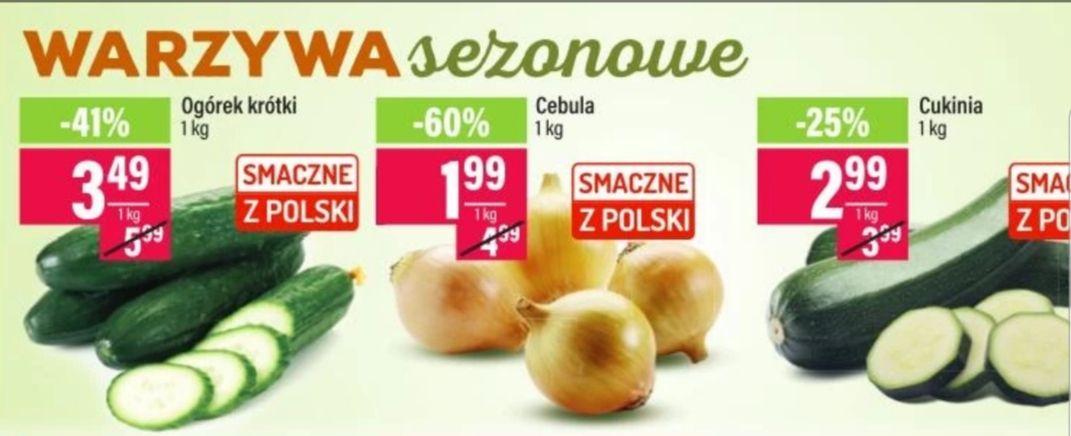 Warzywa : Ogórek krótki 3.49/1kg. Cebula 1.99/1kg  Cukinia 2.99/1kg  Mila