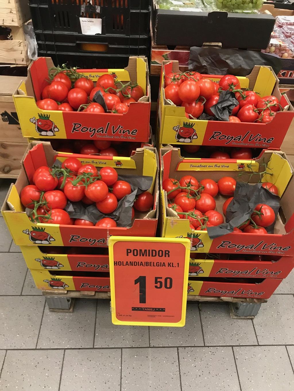 Netto, pomidory kiściowe  Netto Łódź Pomorska 65A