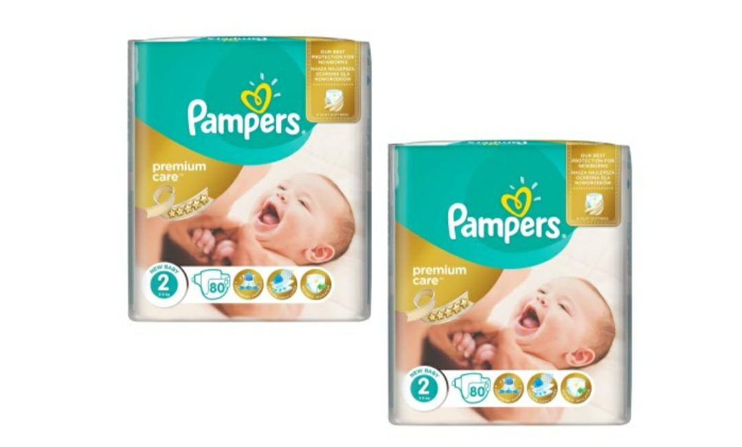 Pieluchy Pampers premium care 2 - 160 sztuk, 50gr/szt