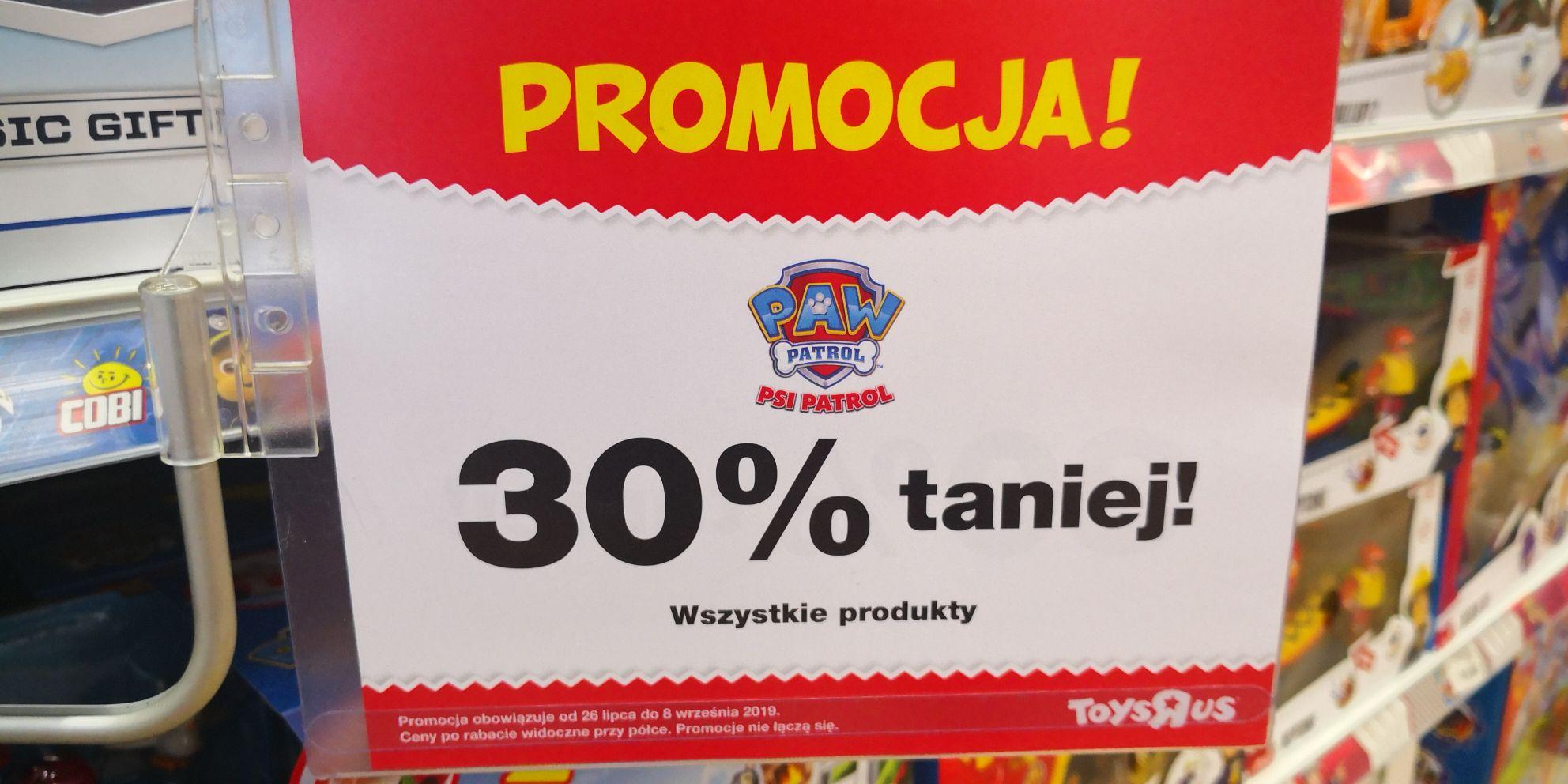 Toys R Us Psi patrol 30% taniej