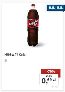 Cola Freeway 2L za 0,69zł @ Lidl
