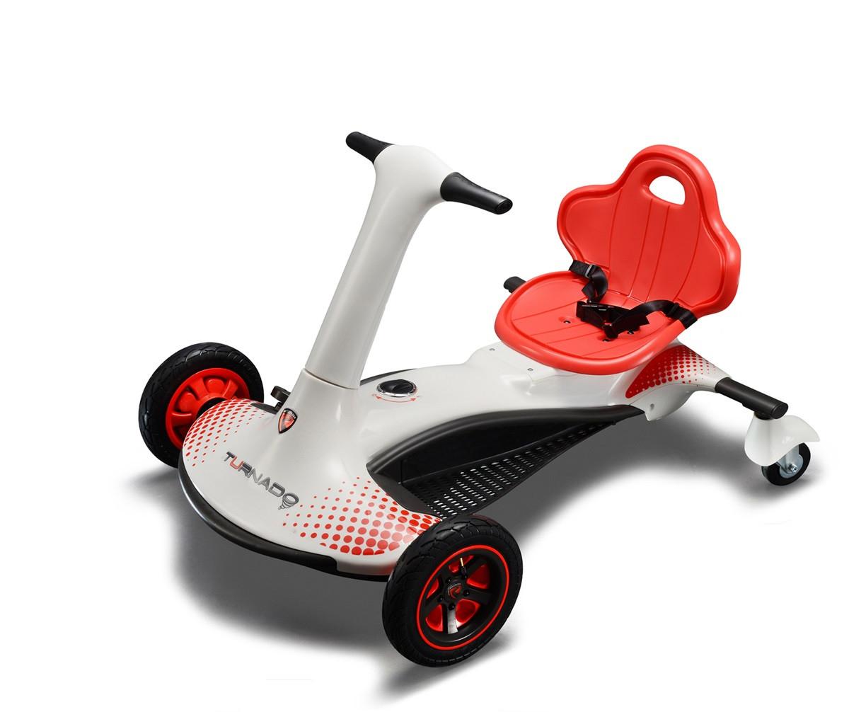 Gokart elektryczny dla dzieci Turnado kolor biały, Carrefour