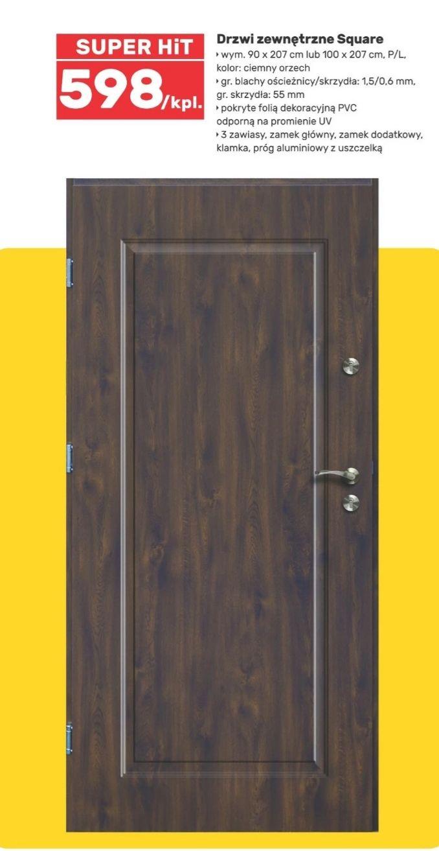 Drzwi zewnętrzne Square i inne Brico Marche
