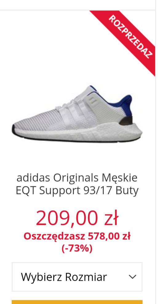 Adidas EQT Support 93/17 BOOST różne rozmiary i kolory