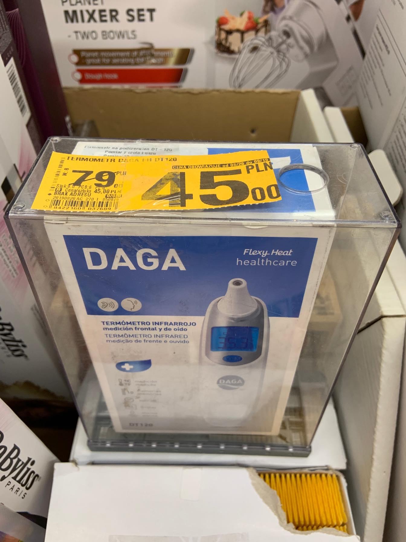 Termometr na podczerwień do ucha i czoła Daga FH-DT120 (Auchan)