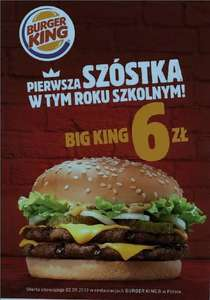 Big King za 6 zł w Burger King