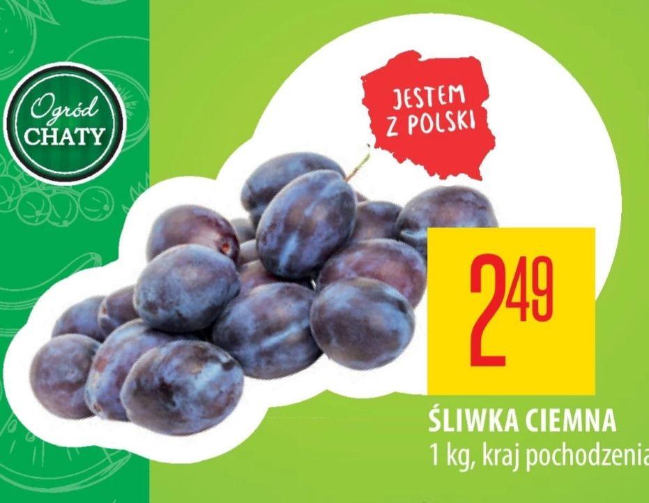 Śliwka ciemna z Polski 2.49/1kg Chata Polska  od 29.08 do 4.09