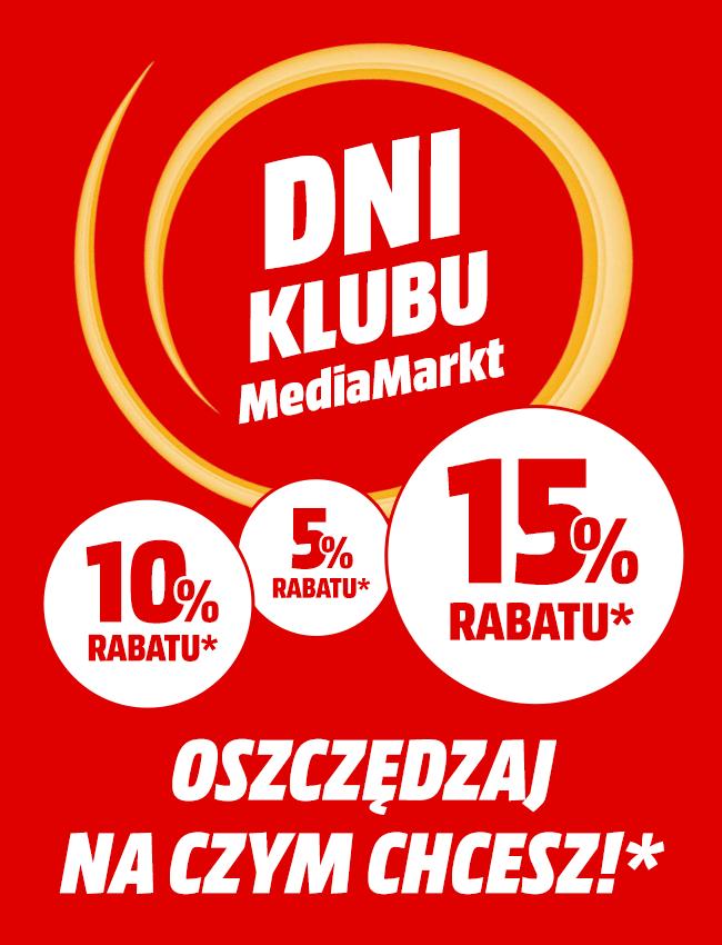 Dni Klubu MediaMarkt - Rabat 5 - 15%