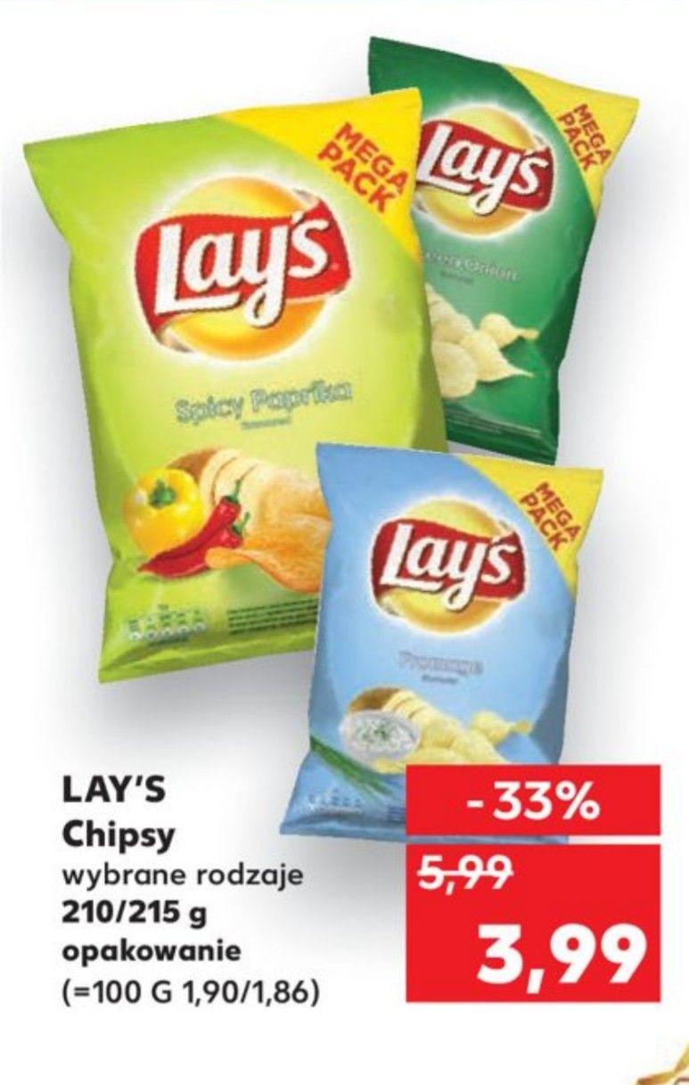 Lay's chipsy 210/215 g różne rodzaje kaufland