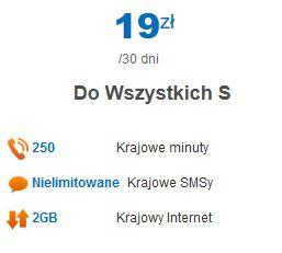 """Bogaty pakiet od LycaMobile """"Do Wszystkich S"""" za 19zł"""