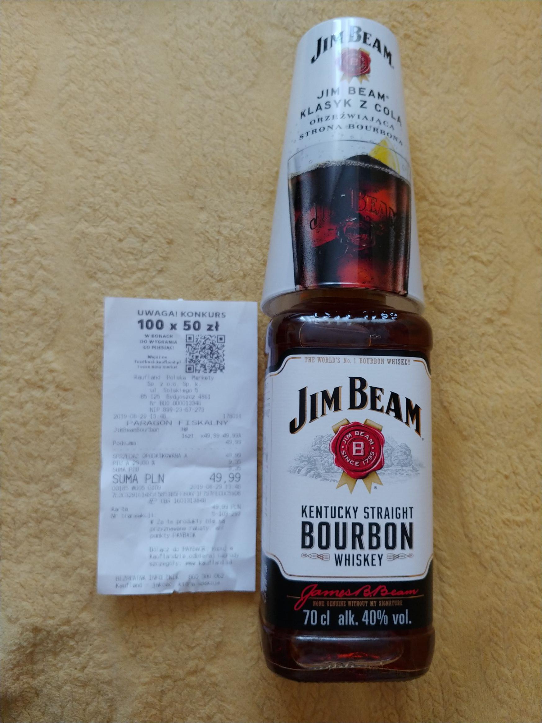 Jim Beam 0,7 + szklanka w Kauflandzie Bydgoszcz Solskiego