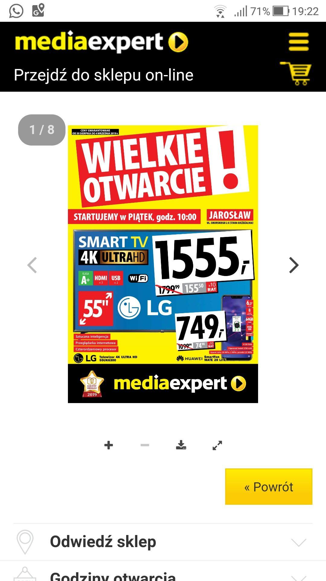 TV LG 55UK6300 otwarcie MediaExpert w nowej galerii Jarosław