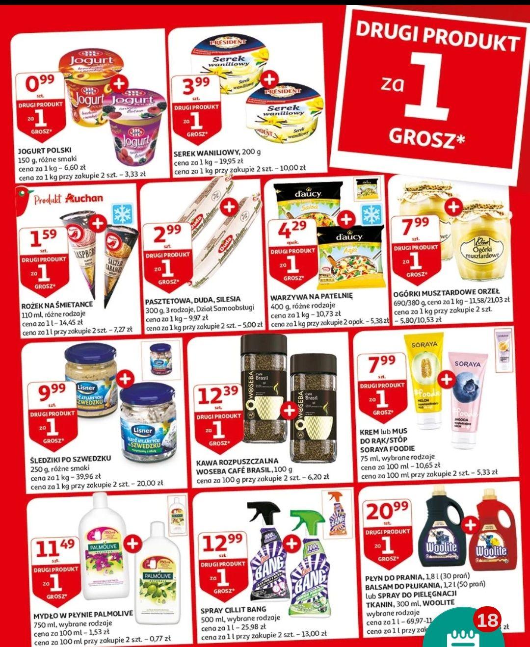 Druga szt. za grosz Auchan
