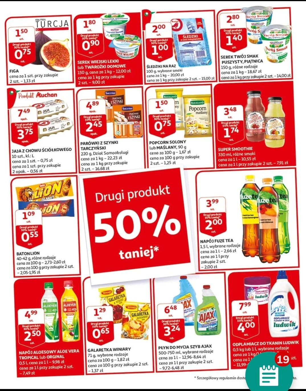 Auchan promo druga sztuka 50% off