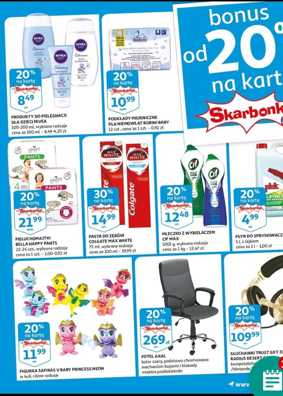 Auchan 20% na skarbonkę oraz 20% w aplikacji
