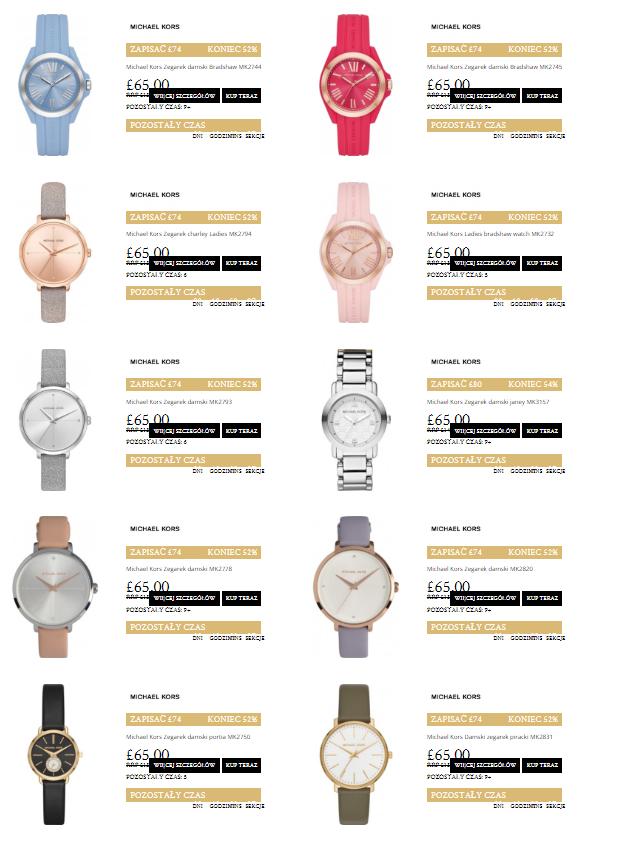 Wyprzedaż zegarków Michael Kors (ponad 400 modeli) @ Watches2U