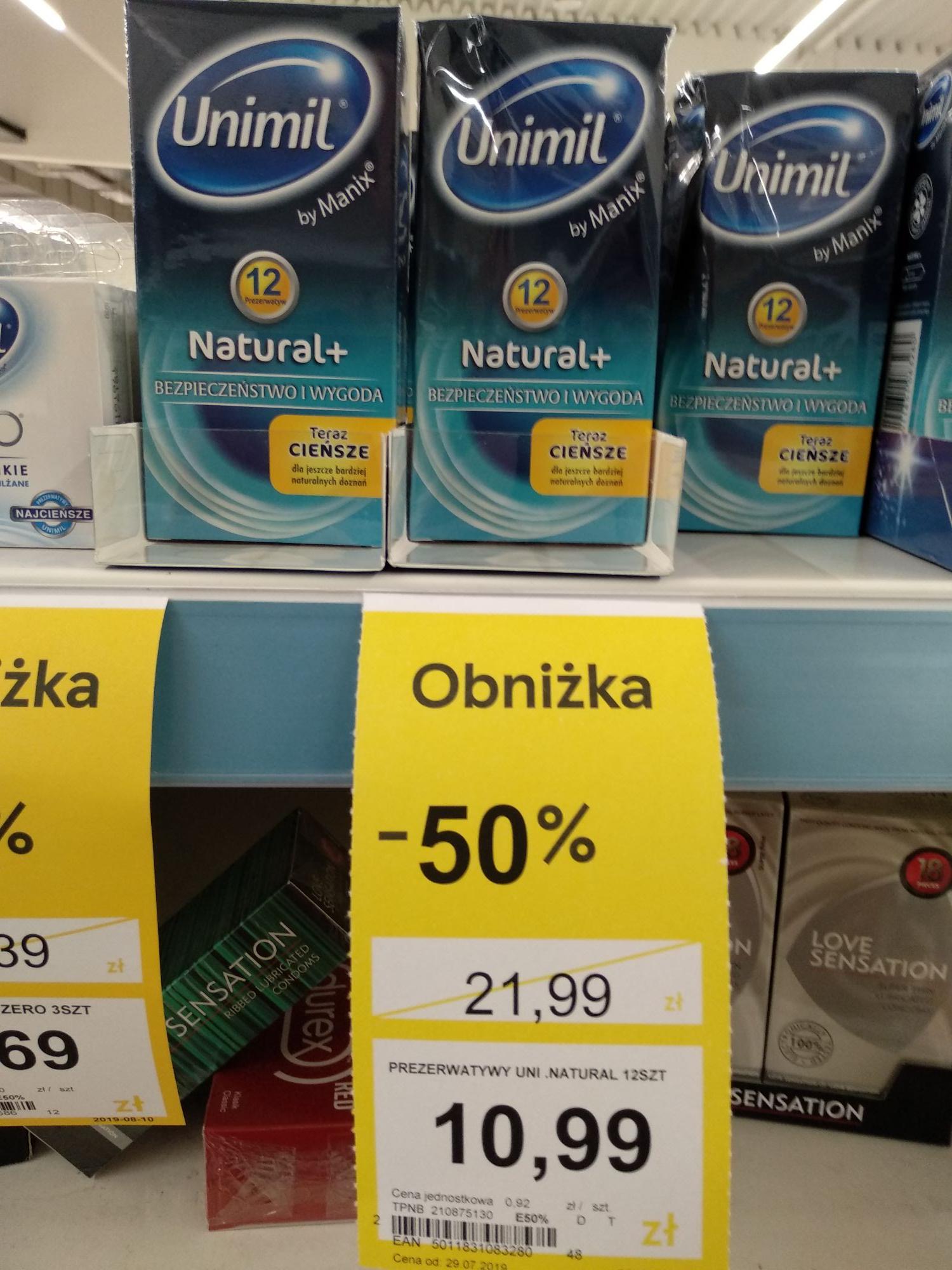 Prezerwatywy Unimil 12 szt Tesco Wa-wa Stalowa