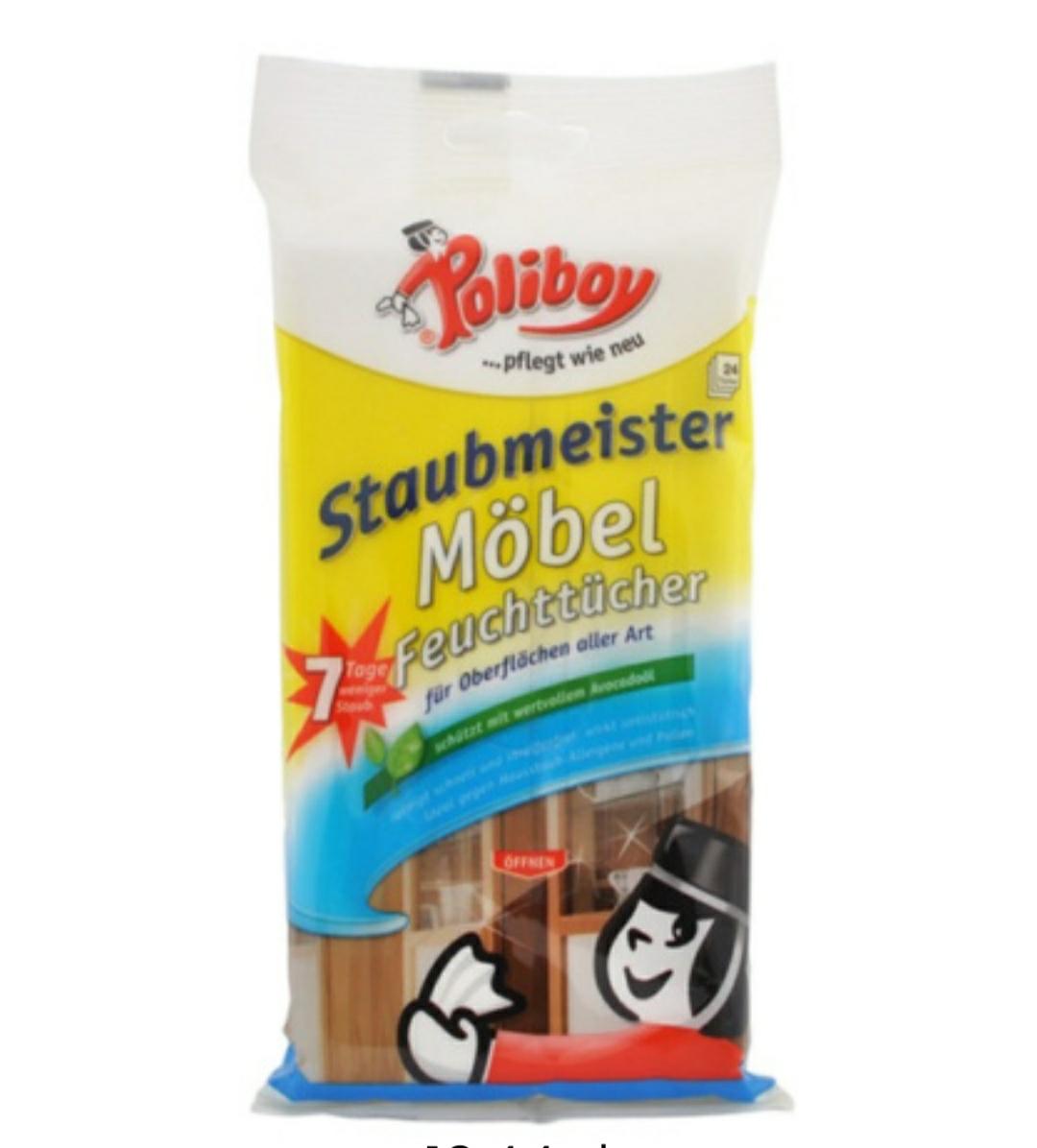 POLIBOY 24szt Staubmeister Mobel Feuchttucher Wilgotne ściereczki do mebli Cena 1 zł za 24 szt (0.04 zł/szt) + Dostawa 5.99