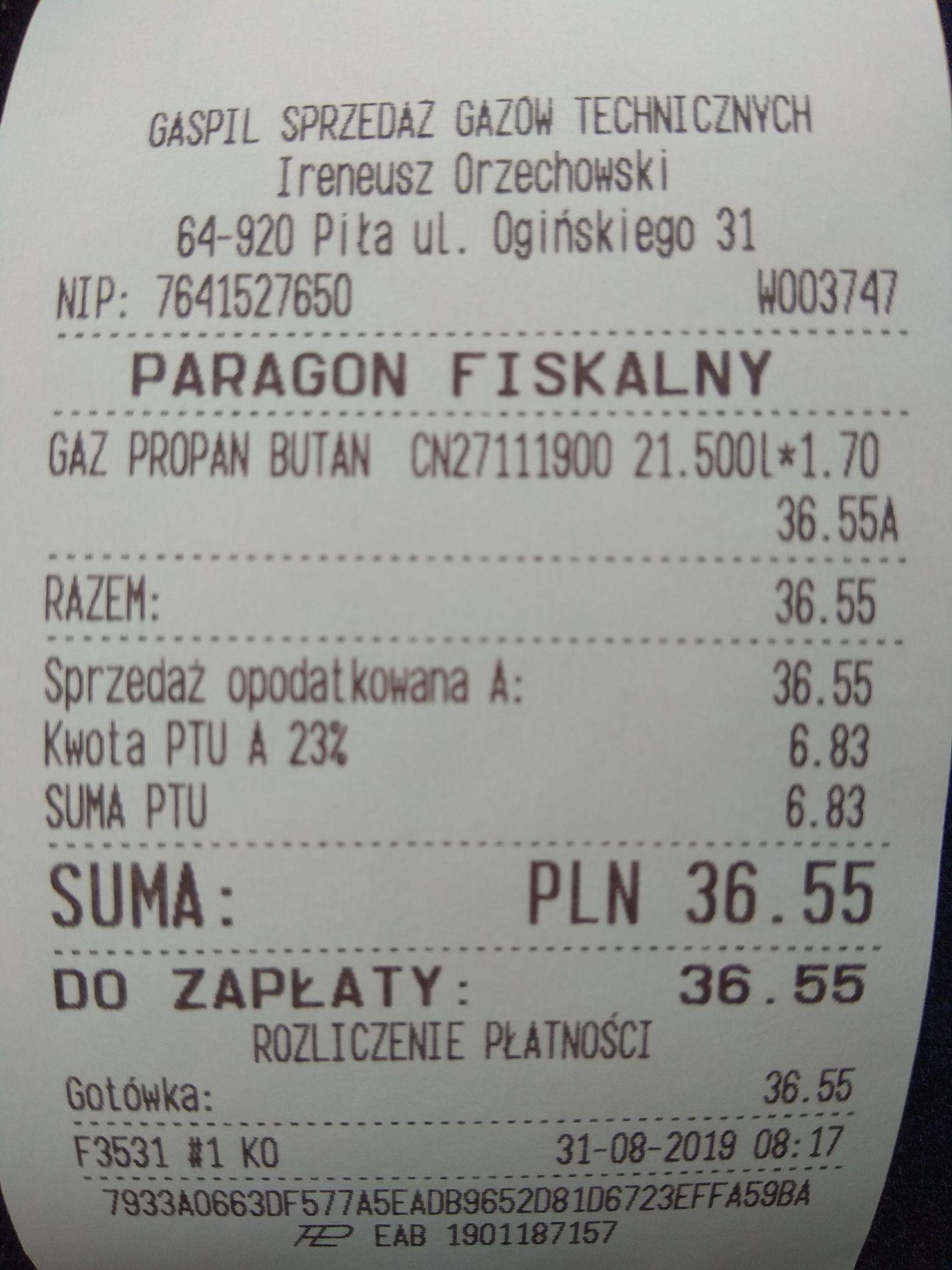 LPG tanio Piła GASPIL