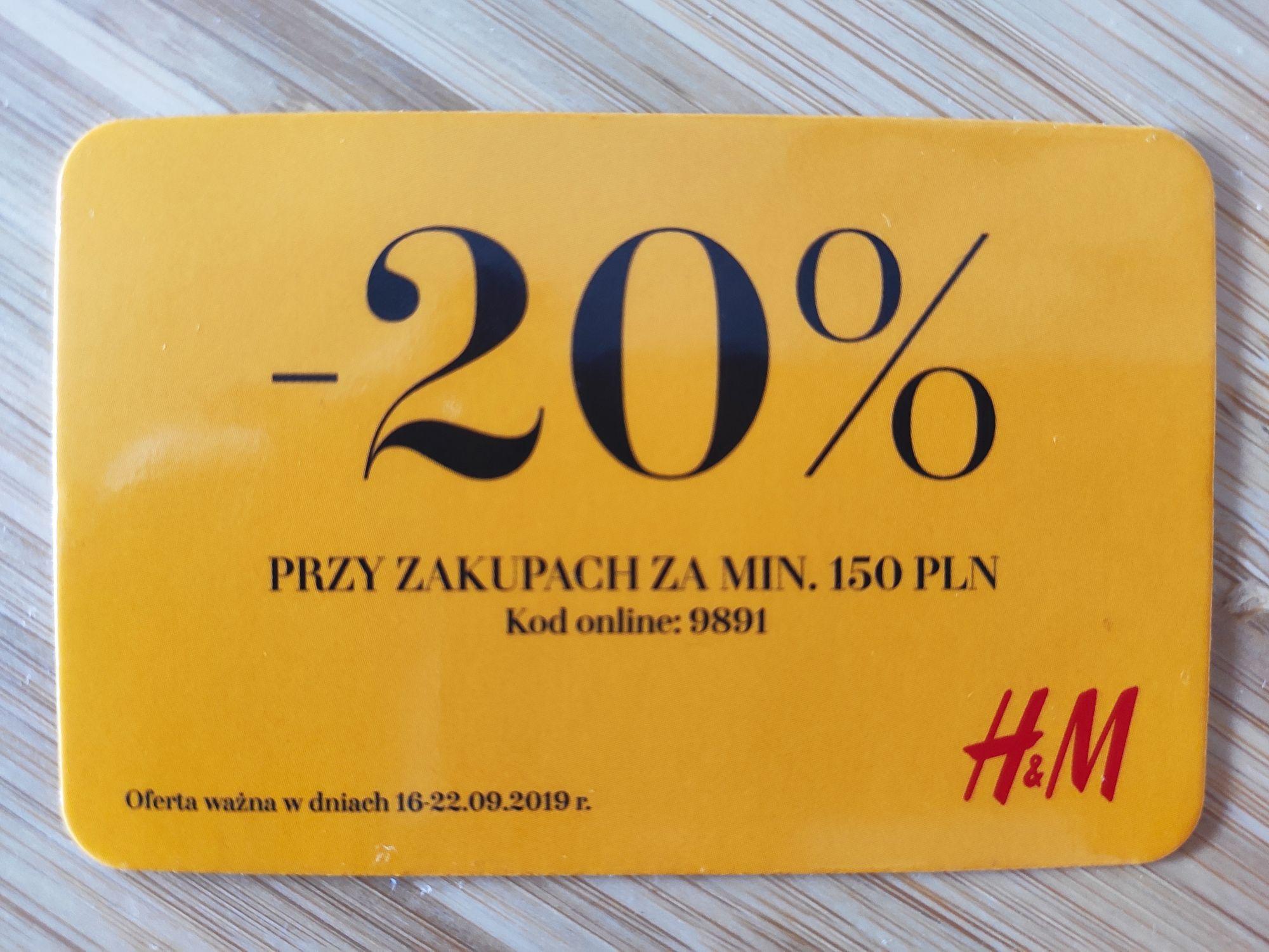 Rabat 20% w H&M