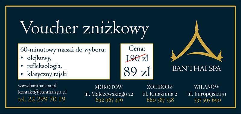 100zl zniżki na masaż tajski w Warszawie