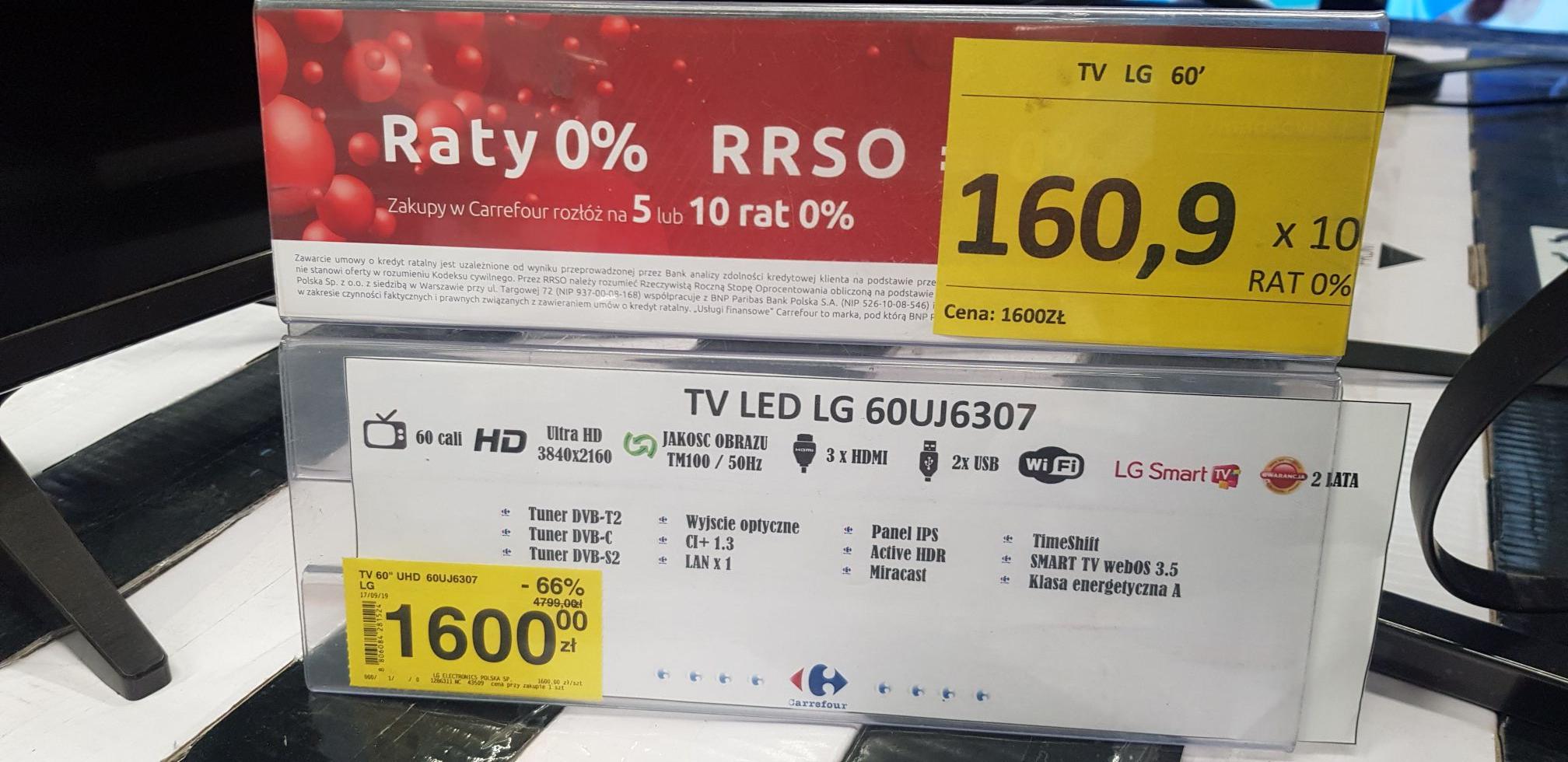 TV LED LG 60UJ6307