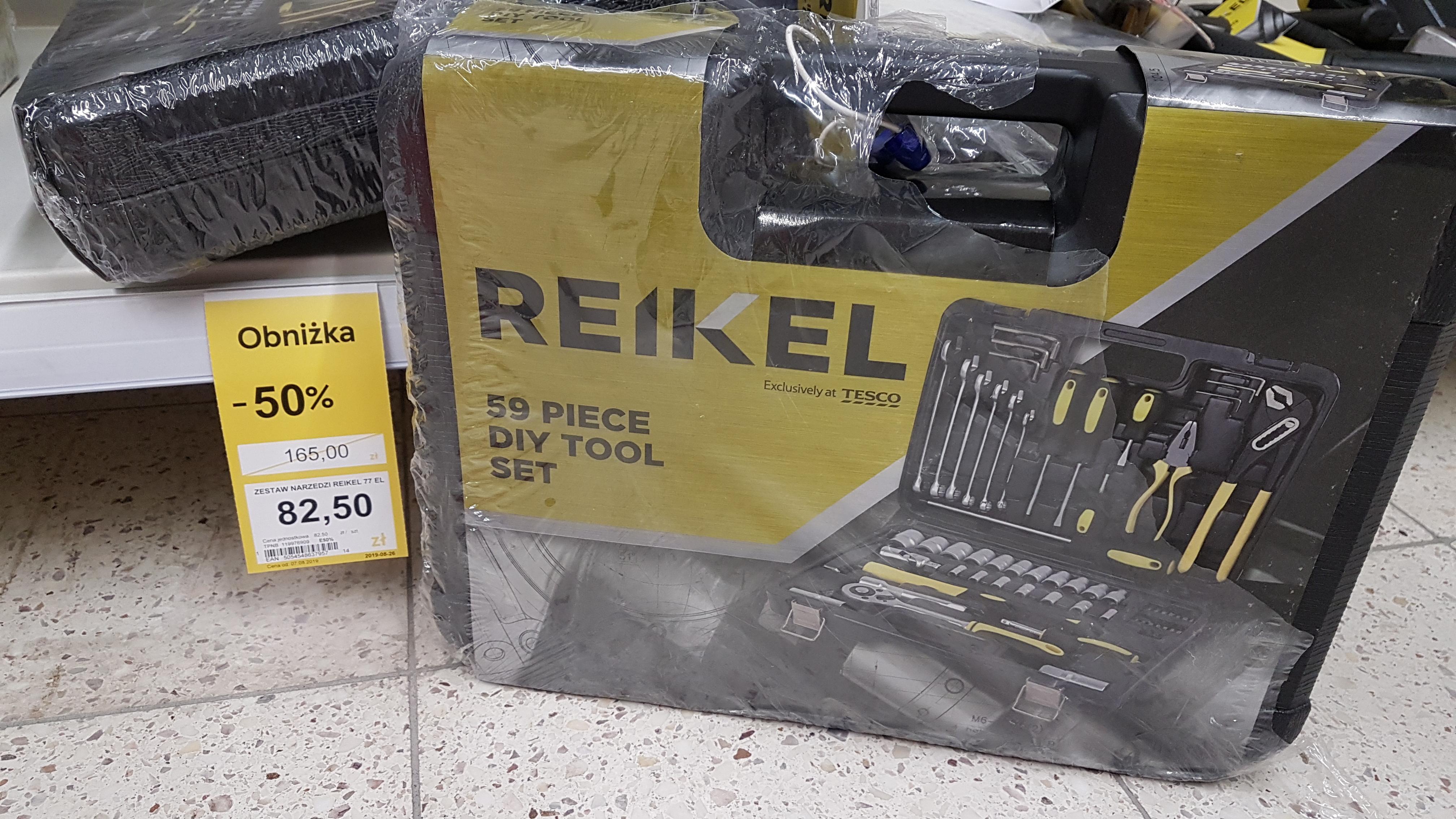 Zestaw narzędzi Reikel 77 el. TESCO