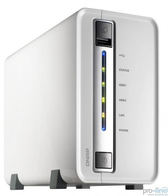 Serwer plików QNAP TS-212P 2 bay turboNAS, SATA 3G, 1.6G, 512M RAM, 1x GbE LAN. @ Proline