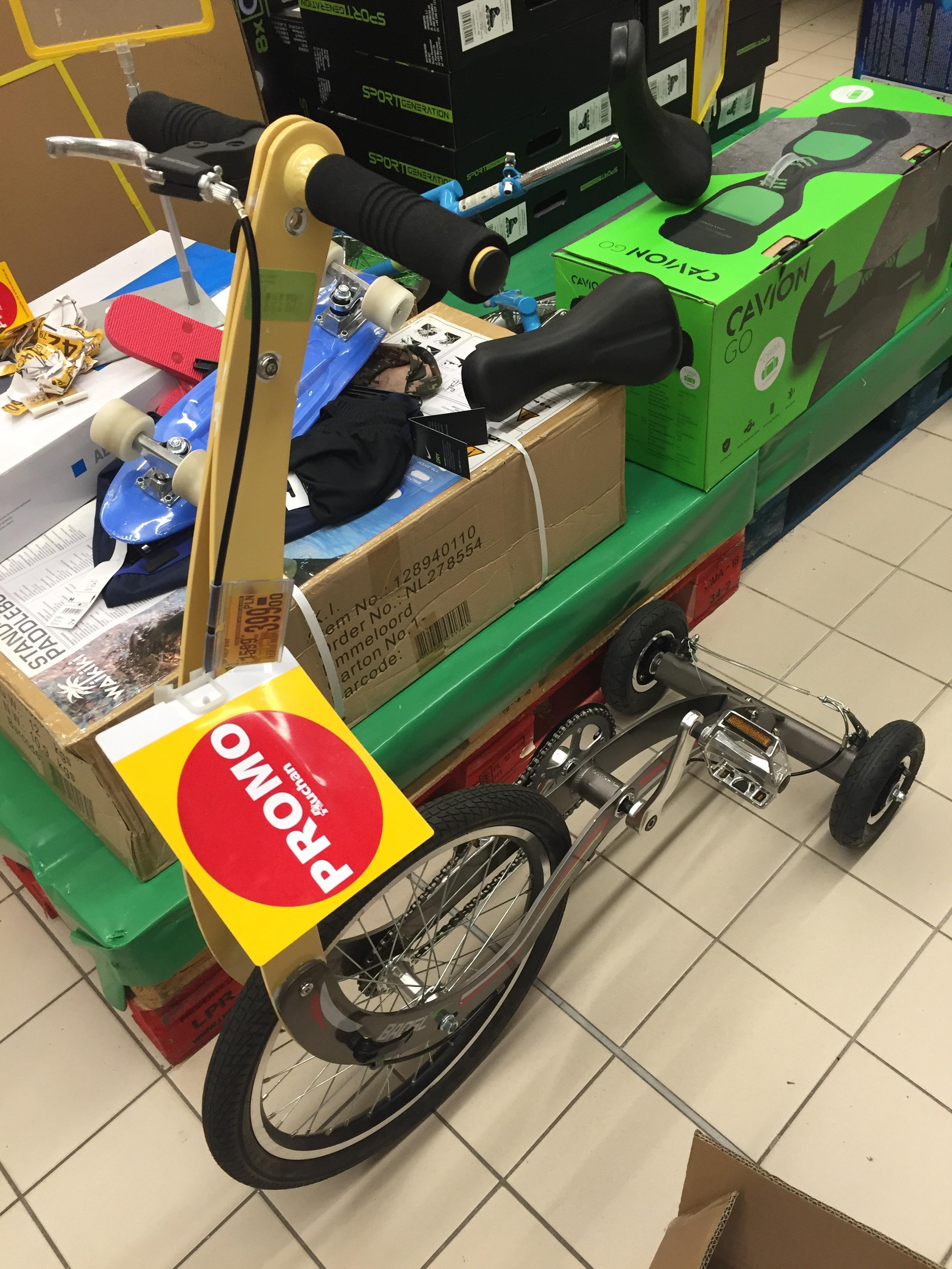 Half bike Auchan