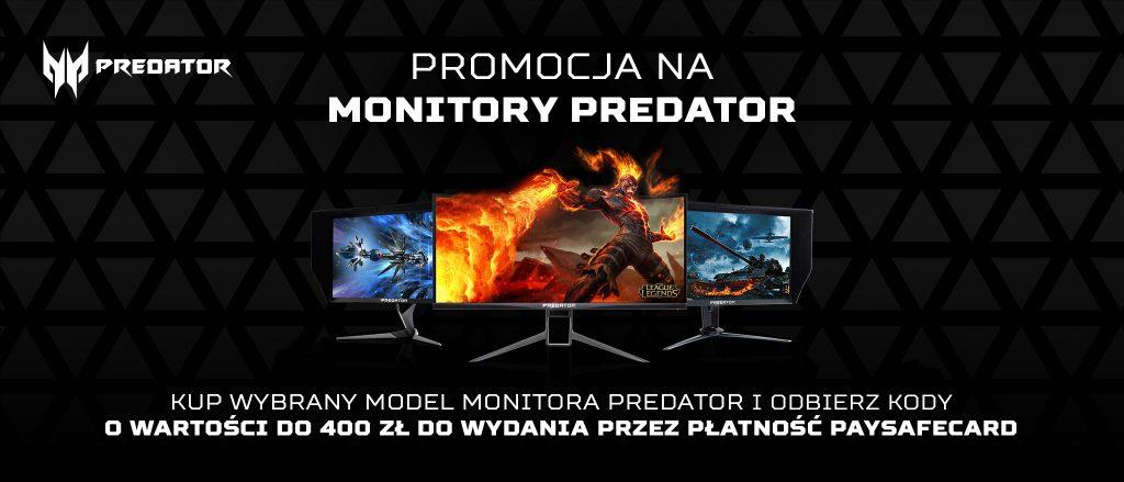 Zwrot do 400zł na Paysafecard za zakup monitora ACER PREDATOR, a także innych urządzeń od tego producenta