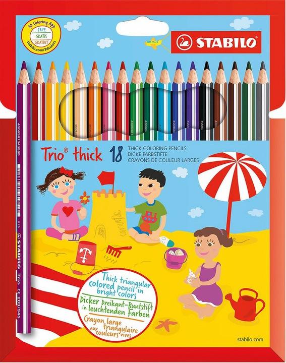 Tesco Kredki Stabilo Trio grube 18 kolorów 20,99