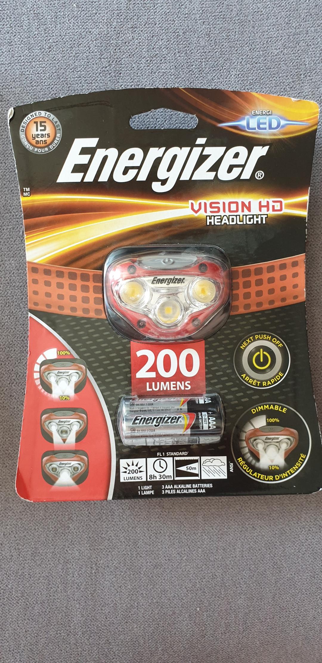Latarka czołówa LED Energizer  Vision HD Neonet Skytower
