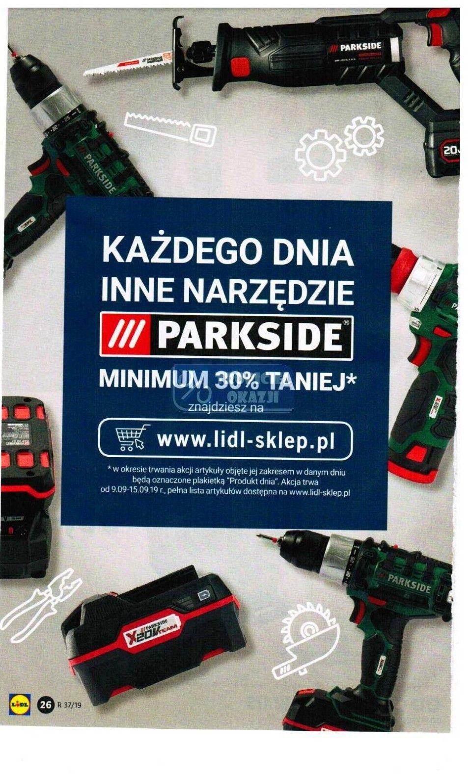 Narzędzia ParkSide w Lidlu min. 30% taniej