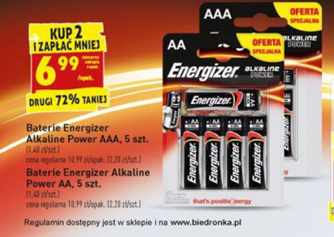 Baterie Energizer AA lub AAA przy zakupie 2op. @Biedronka