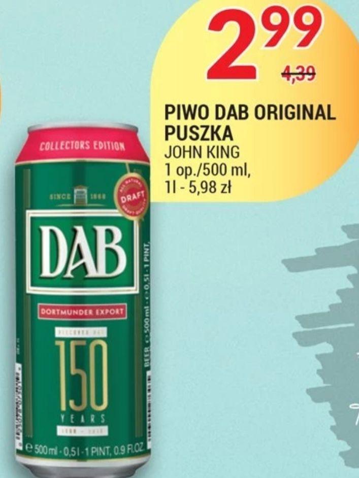 Piwo DAB ORGINAL PUSZKA 500ml Piotr i Paweł oferta od 3.09 do 7.09