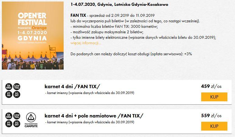 OPENER (01-04.07.2020) Fan Tix