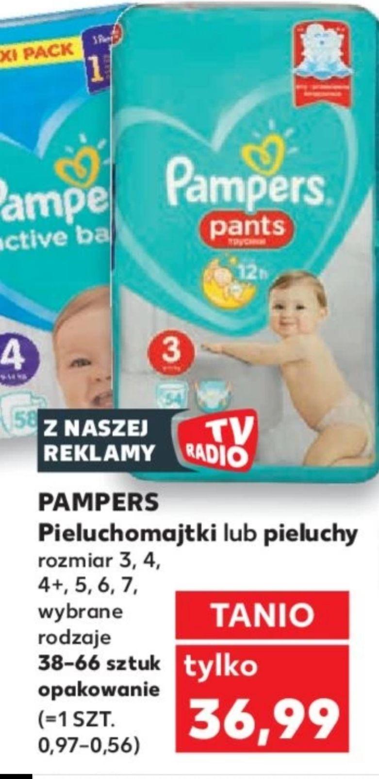 Pampers pieluchomajtki lub pieluchy 36.99 Kaufland oferta od 5.09 do 11.09