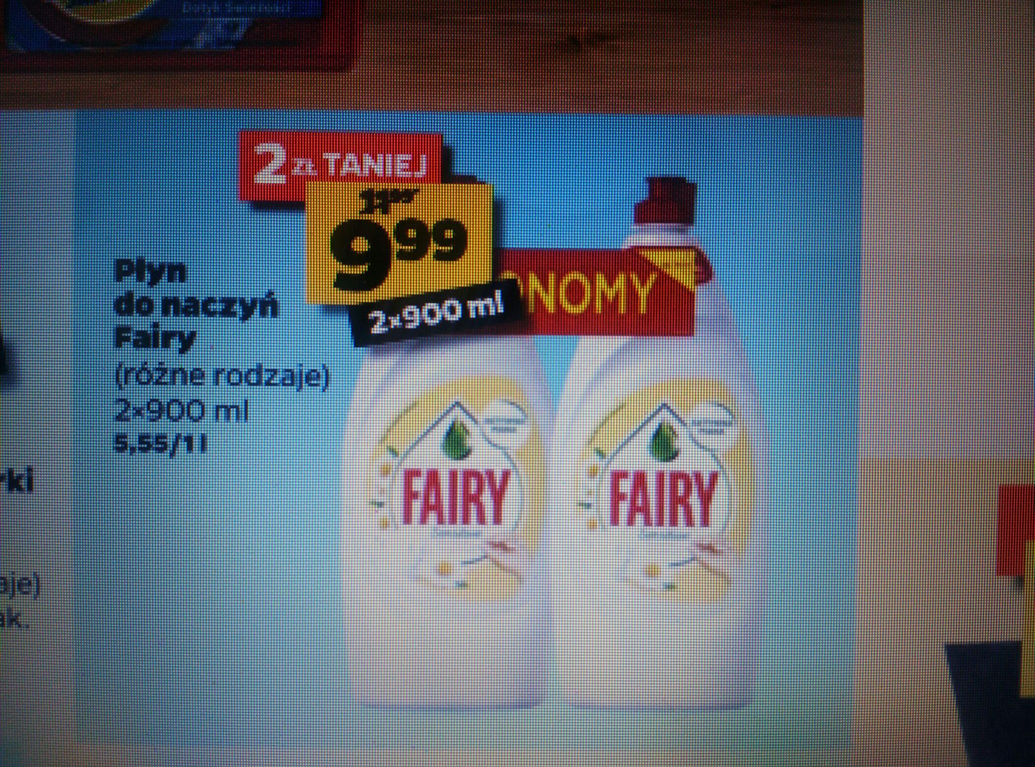 Płyn do naczyń Fairy 2x900ml w Netto
