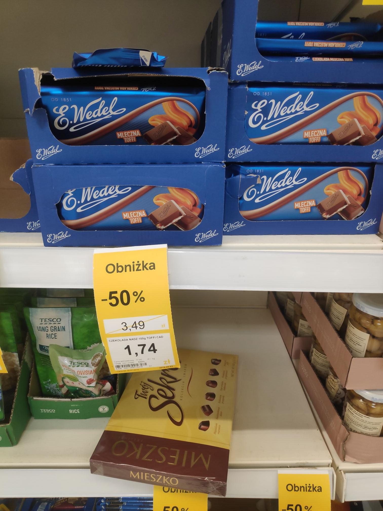 Czekolada Wedel Toffi za -50% Wroclaw