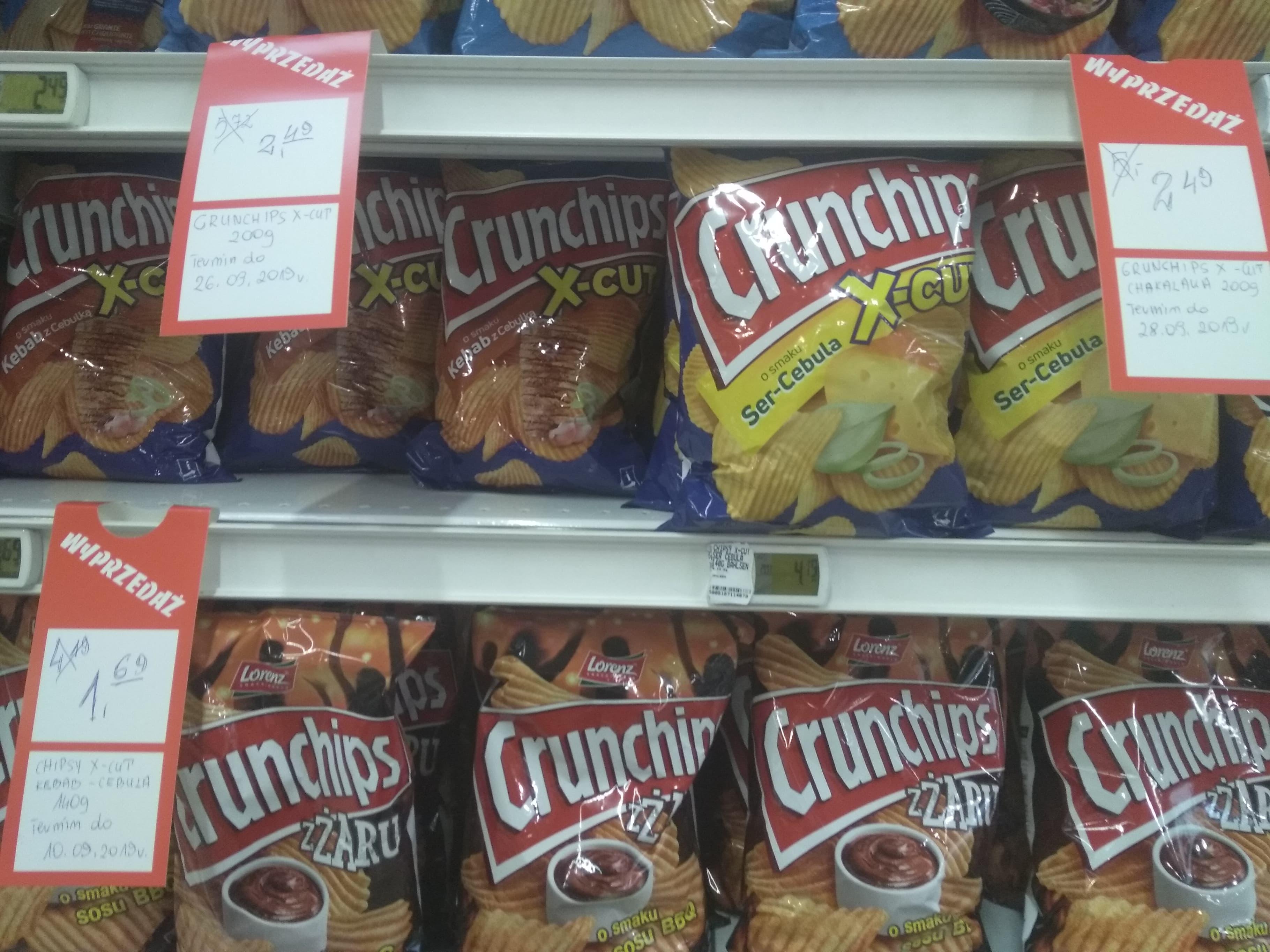 Crunchips X-Cut Lublin wybrane smaki(koniec terminu ważności)