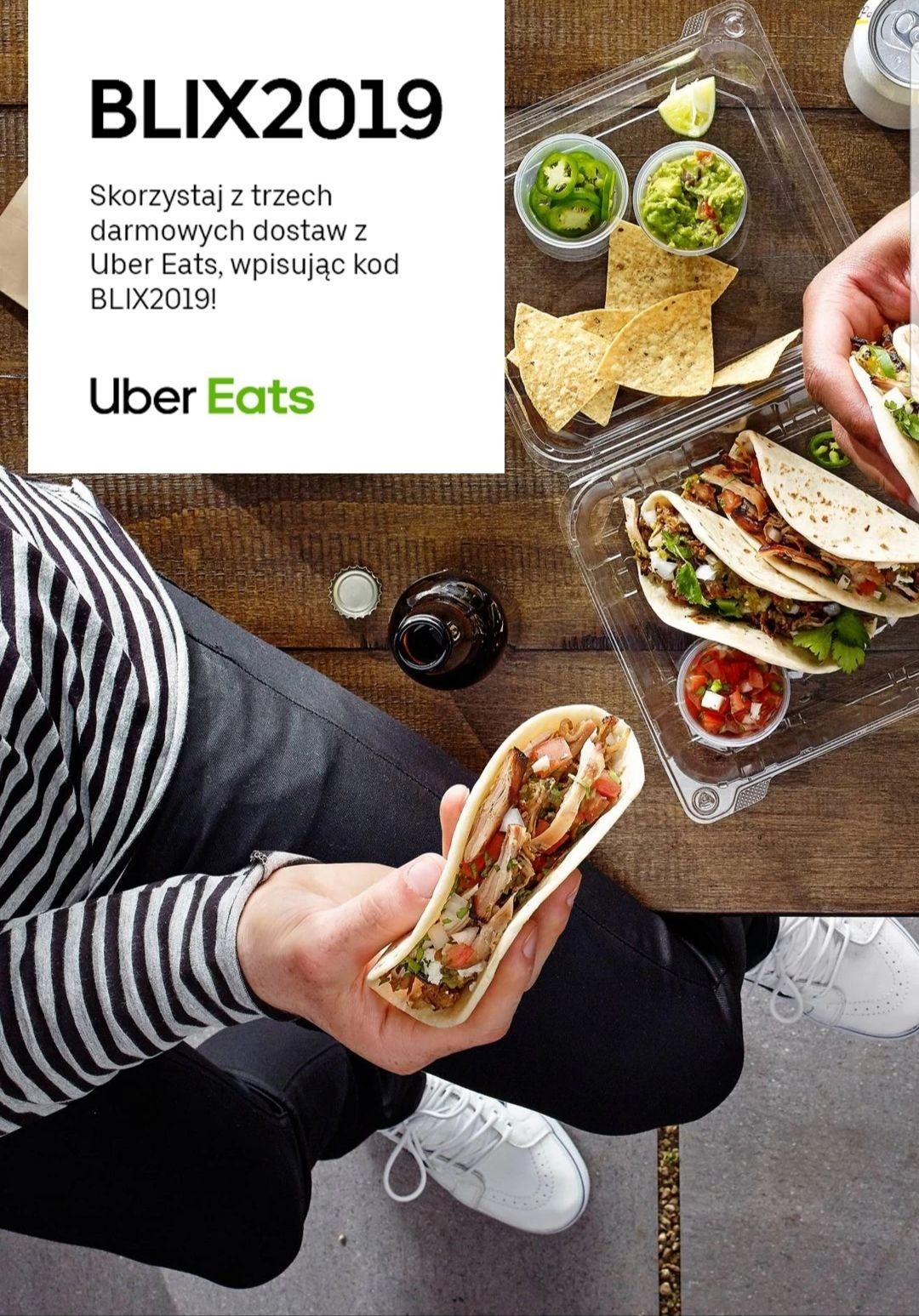 UBER EATS 3X Darmowa dostawa od 2.09 do 8.09