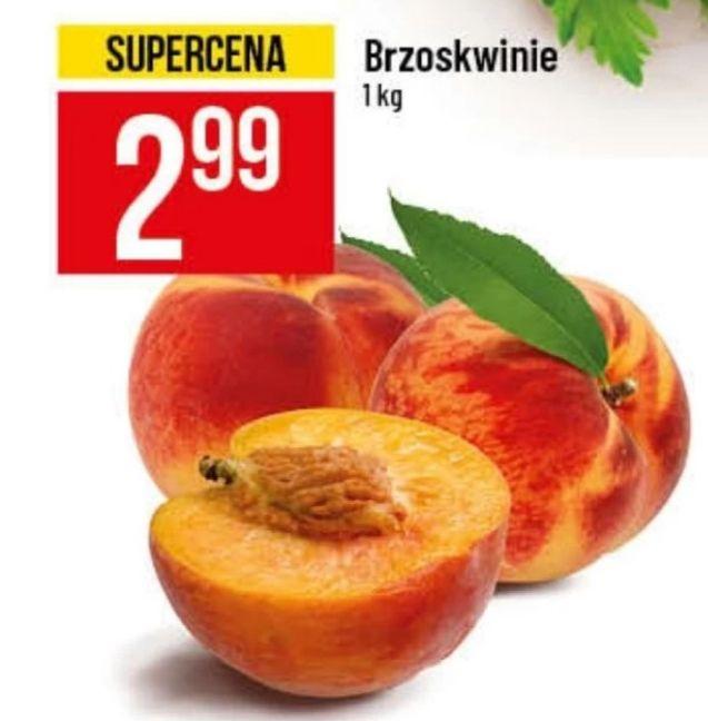 Brzoskwinie 2.99/1kg Polo  Market od 4.9 do 10.09