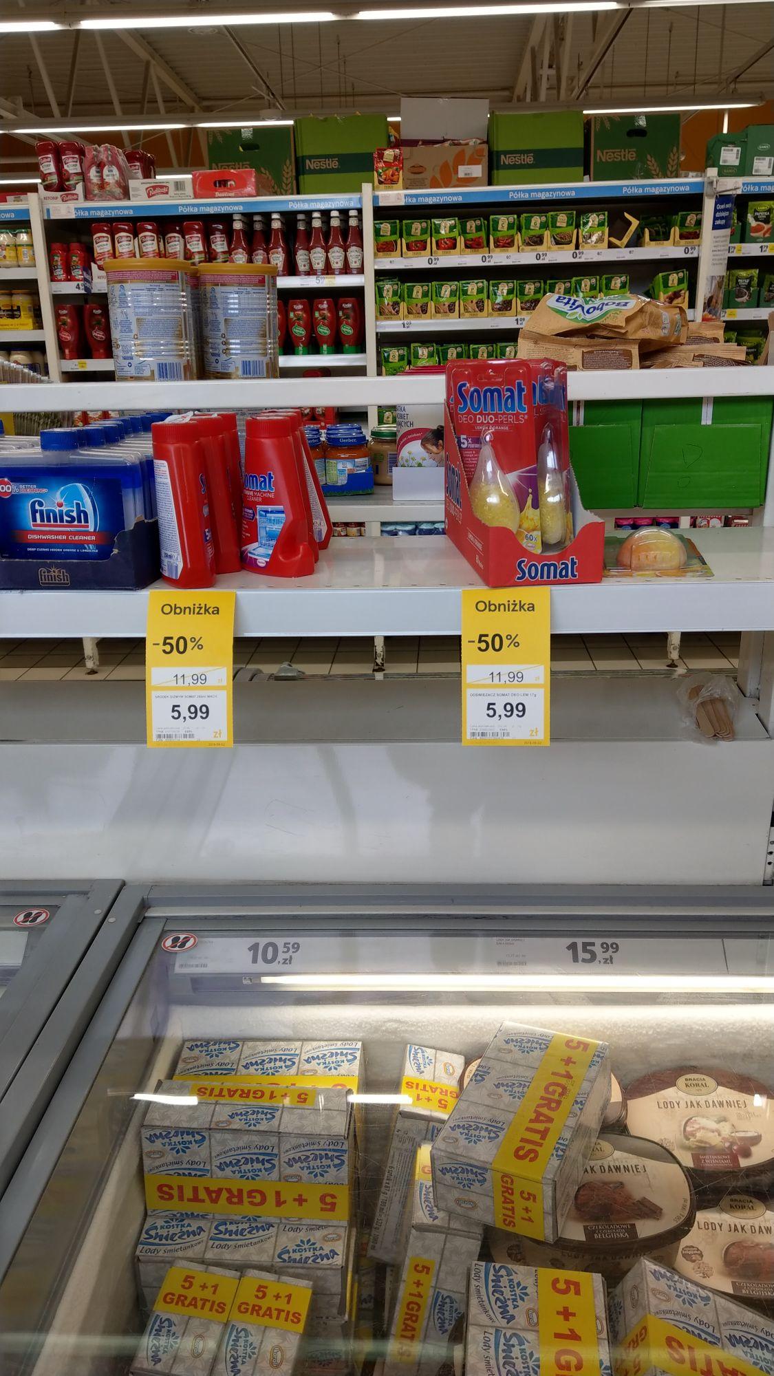 Somat środki do czyszczenia zmywarki oraz zapach - supermarket Tesco Rybnik ale promocja raczej ogolnopolska