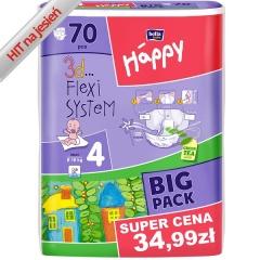 Pieluszki Happy Maxi - 70 szt. BIG PACK  Przecena z 49,12 zł @ blizejciebie.pl