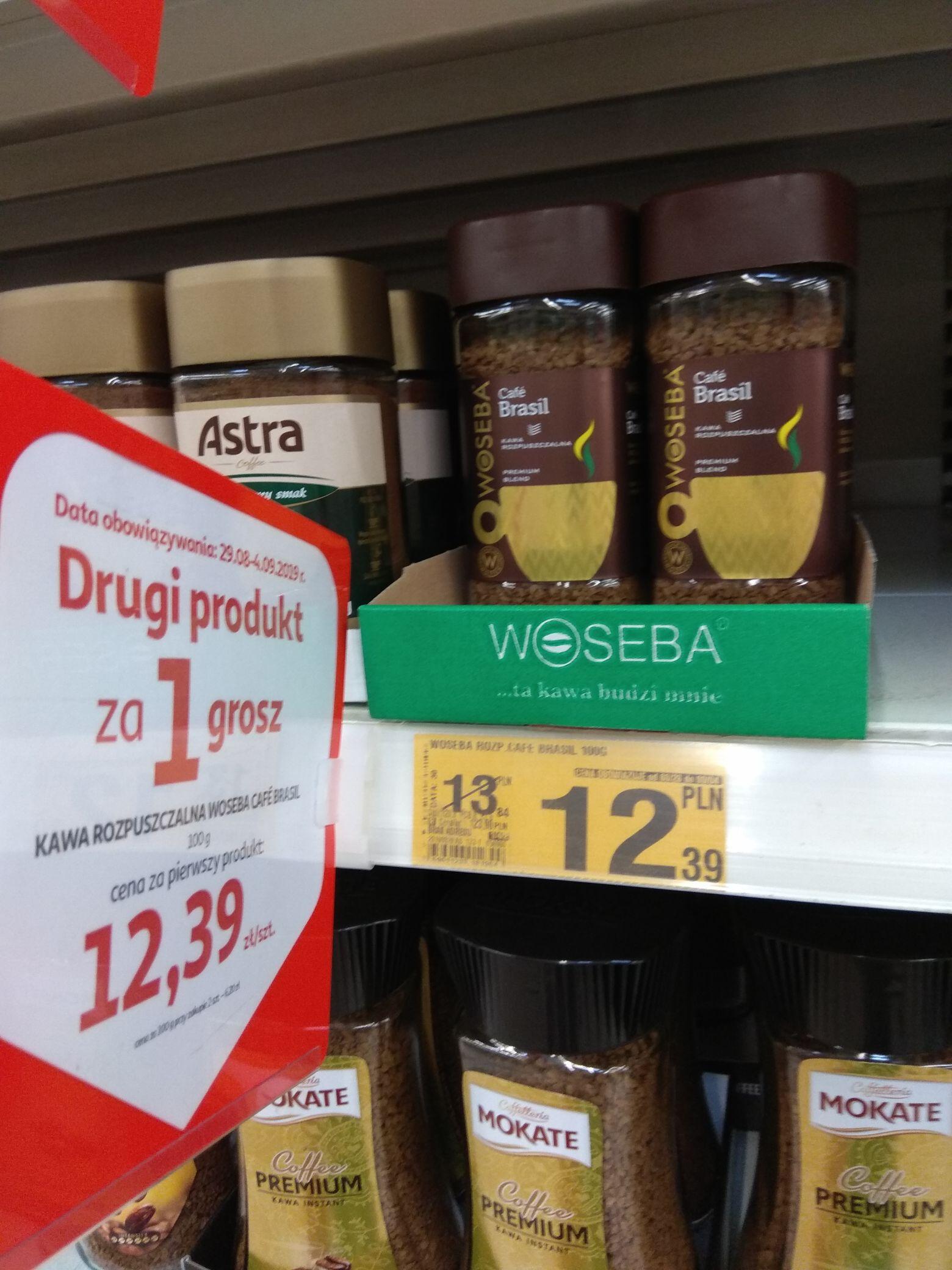 Kawa woseba rozpuszczalna + druga sztuka za grosz