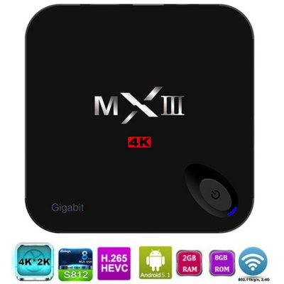 MXIII-G TV Box (2GB RAM, 8GB ROM 4K x 2K H.265 Android 5.1) @ Gearbest
